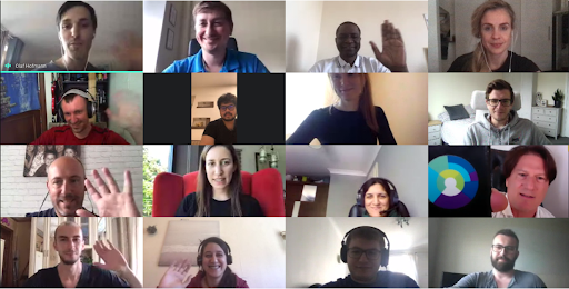 Cybertonica Team in a virtual meeting